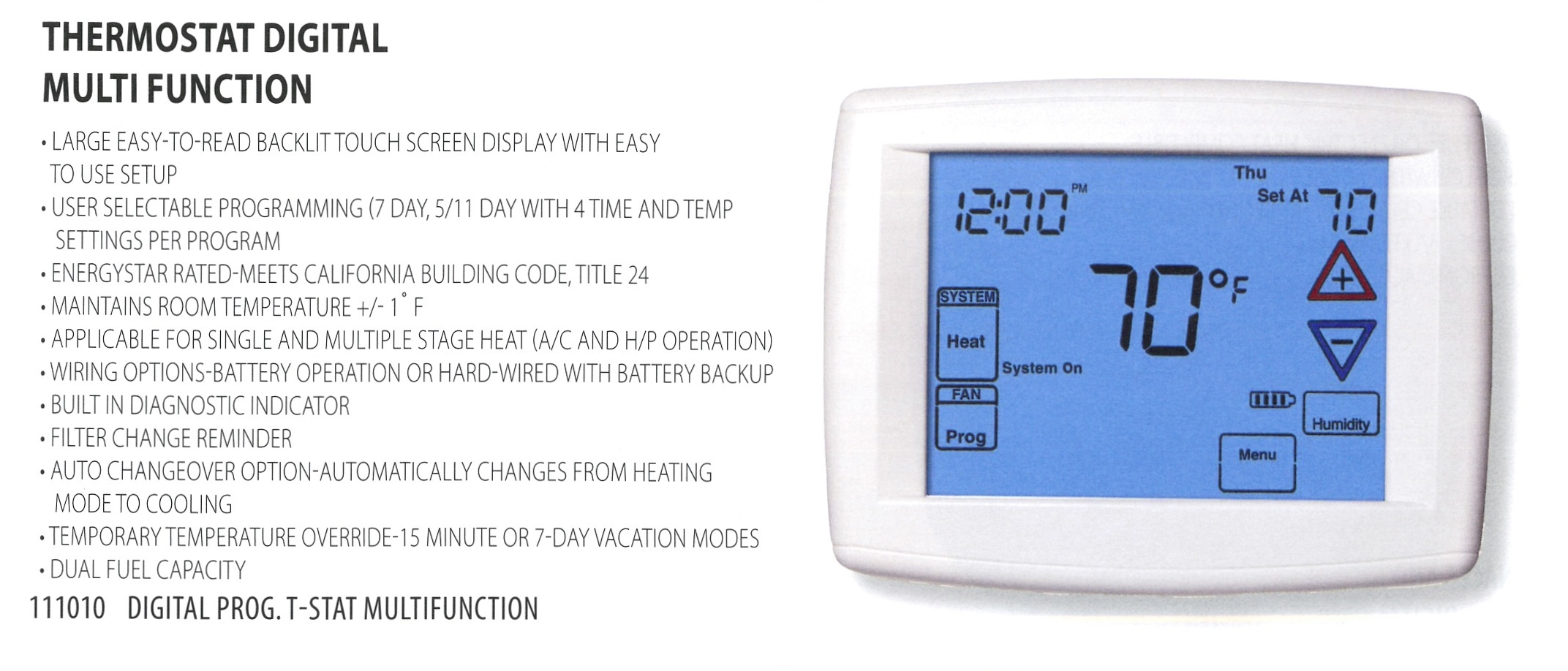 111010 THERMOSTAT DIGITAL MULTI FUNCTION
