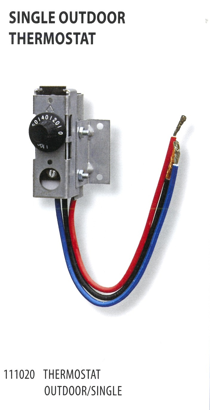 111020 SINGLE OUTDOOR THERMOSTAT