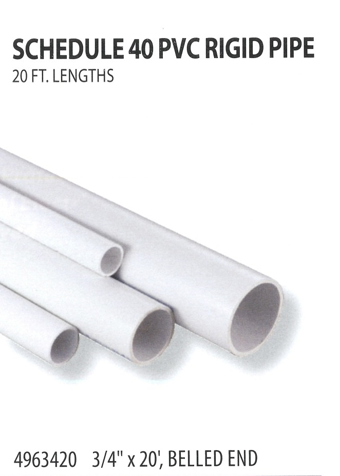 4963420 SCHEDULE 40 PVC RIGID PIPE