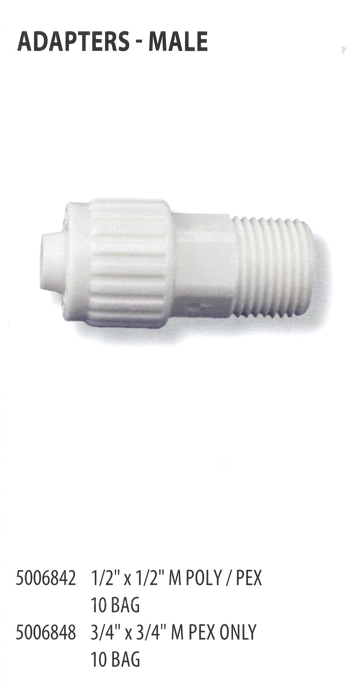 5006842 5006848 ADAPTERS-MALE
