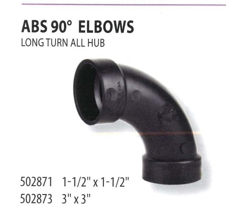 502871 502873 ABS 90 ELBOWS