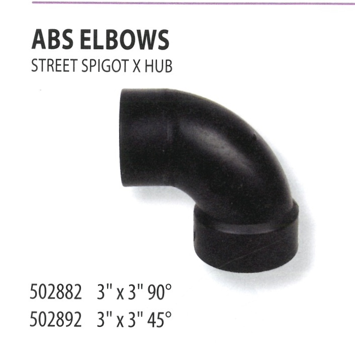 502882 502892 ABS ELBOWS