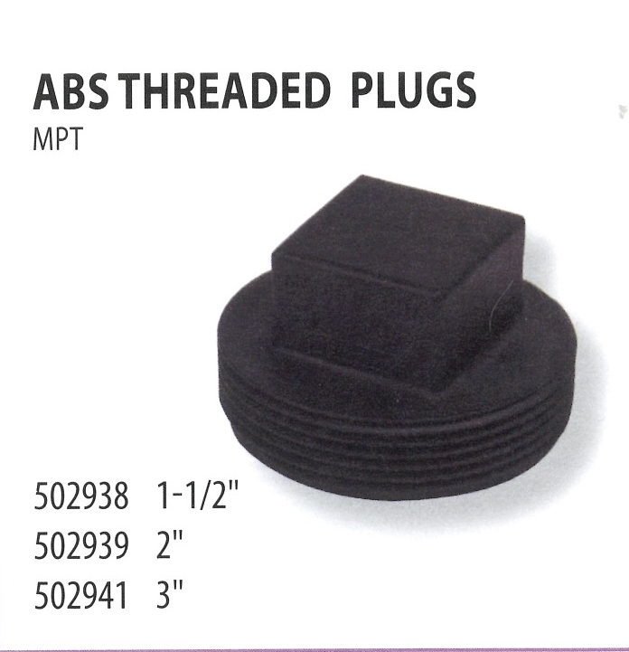 502938 502939 502941 ABS THREADED PLUGS