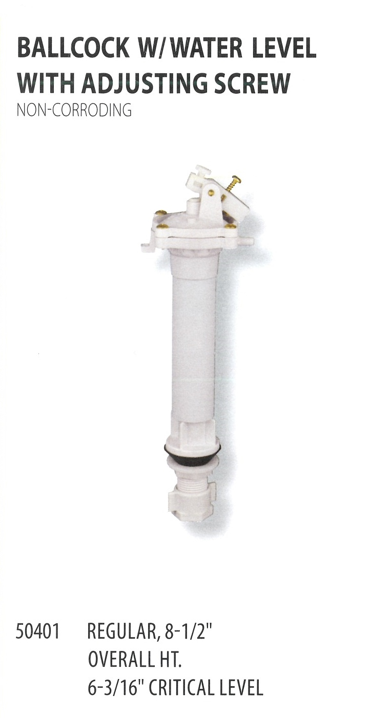 50401 BALLCOCL WITH WATER LEVEL WITH ADJUSTING SCREW