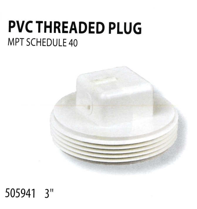 505941PVC THREADED PLUG