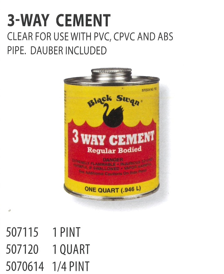 507115 507120 5070614 3-WAY CEMENT