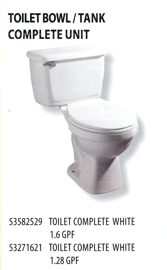 53582529 53271621 TOILET BOWL AND TANK COMPLETE UNIT