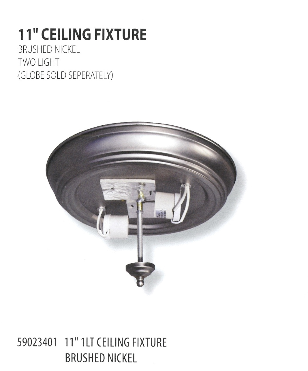 59023401 11INCH CEILING FIXTURE