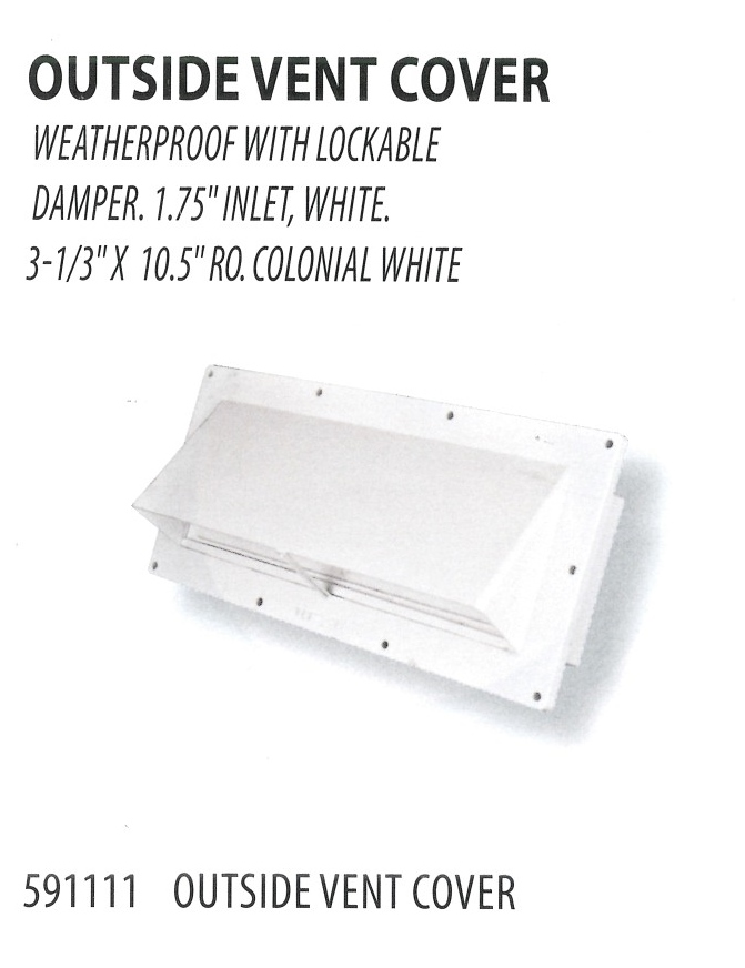 591111 OUTSIDE VENT COVER