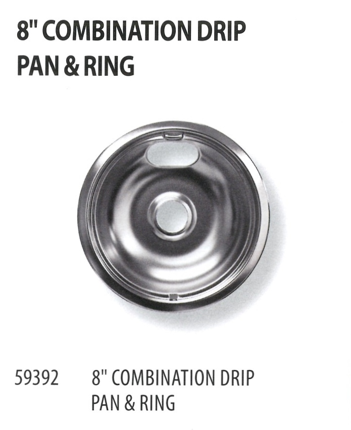 59392 8 INCH COMBINATION DRIP PAN & RING