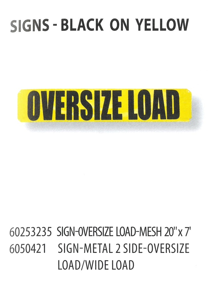 60253235 6050421 SIGNS-BLACK ON YELLOW