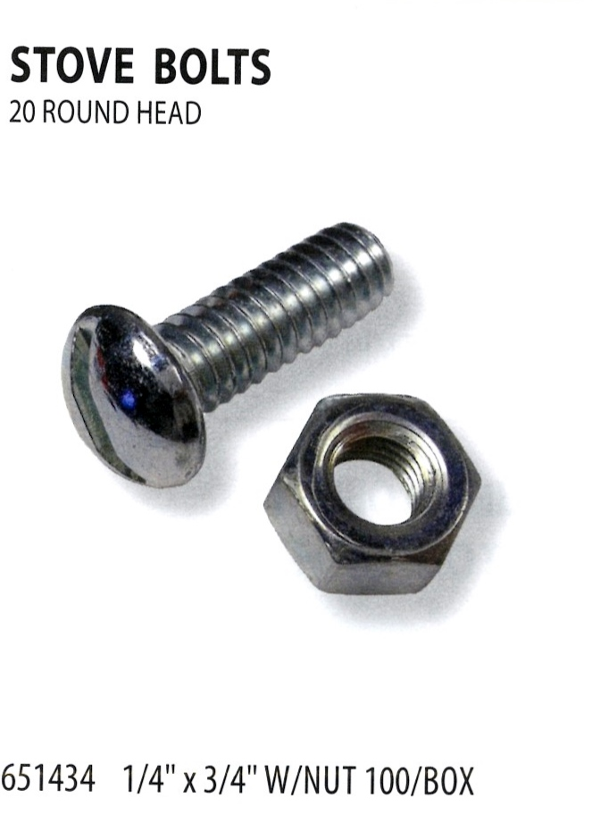 651434 STOVE BOLTS