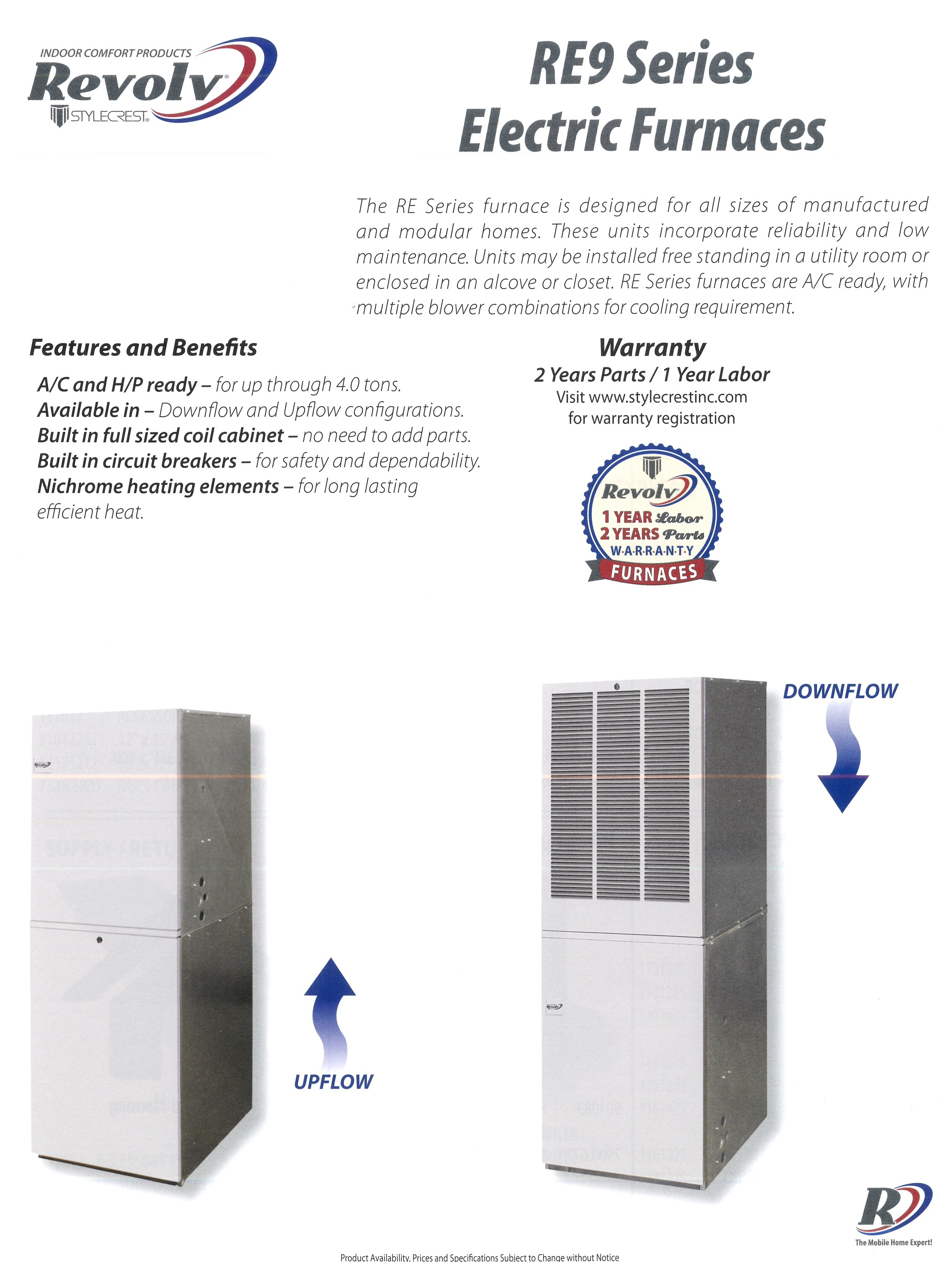 RE9 SERIES ELECTRIC FURNACES