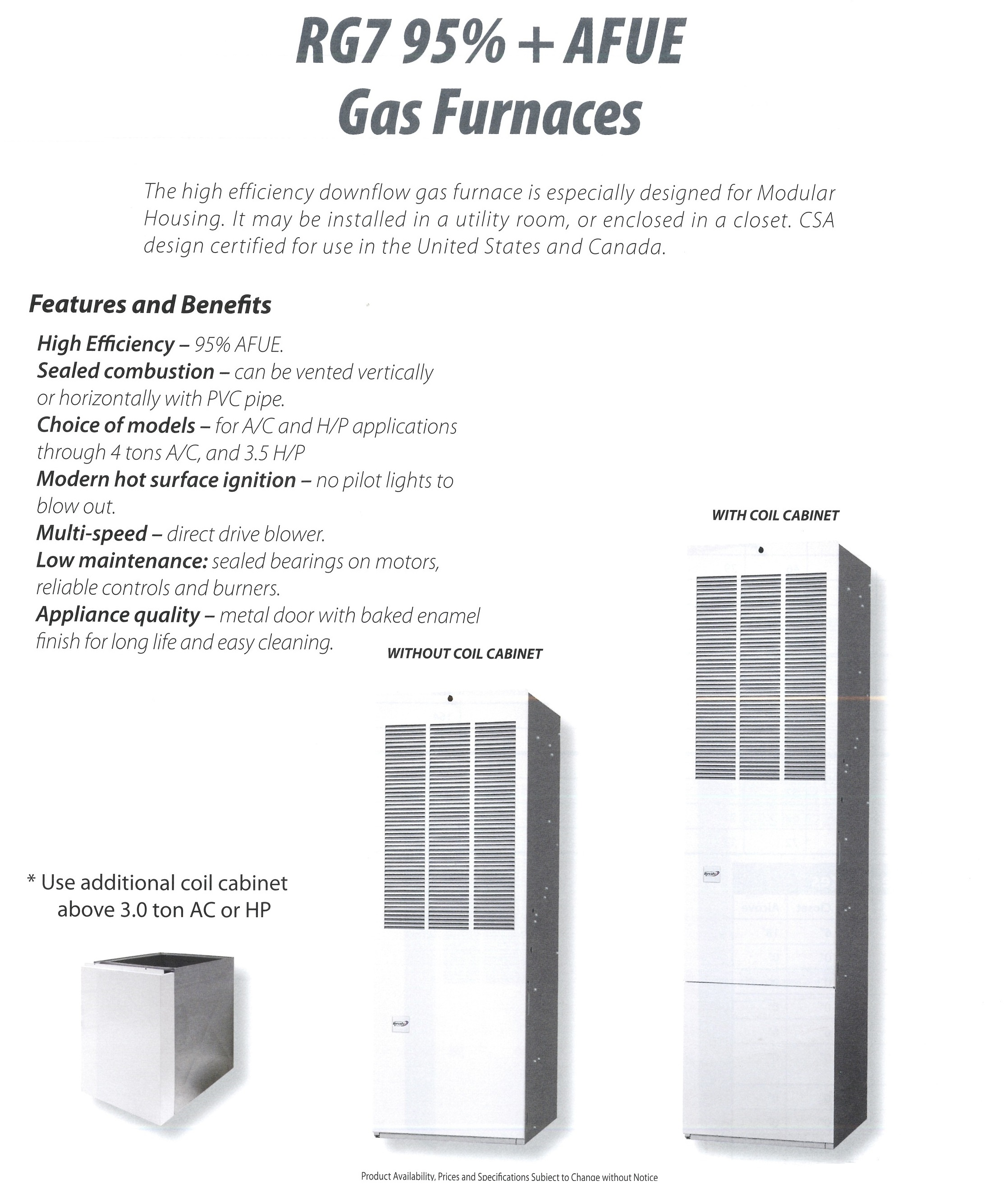 RG7 95% + AFUE GAS FURNACES